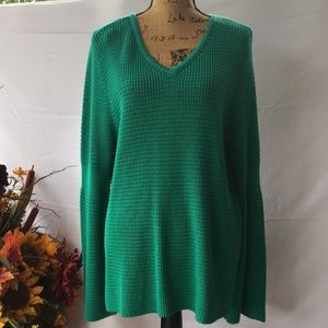 Style & Co Green Tunic Sweater